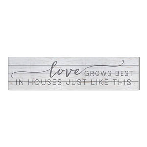 "40"" x 10"" Love Grows Best Shiplap Sign"