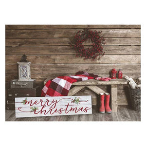"40"" x 10"" Merry Christmas Shiplap Sign"