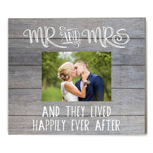 Load image into Gallery viewer, Mr. And Mrs. Gray Shiplap Picture Frame