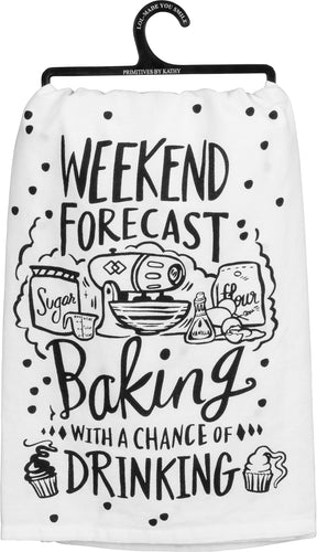 Dish Towel - Weekend Forecast Chance of Drinking