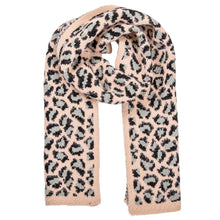 Load image into Gallery viewer, Leopard Knit Scarf