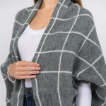 Load image into Gallery viewer, Plaid Shrug/Shawl