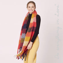 Load image into Gallery viewer, Plaid Scarf with Fringes - Soft Touch