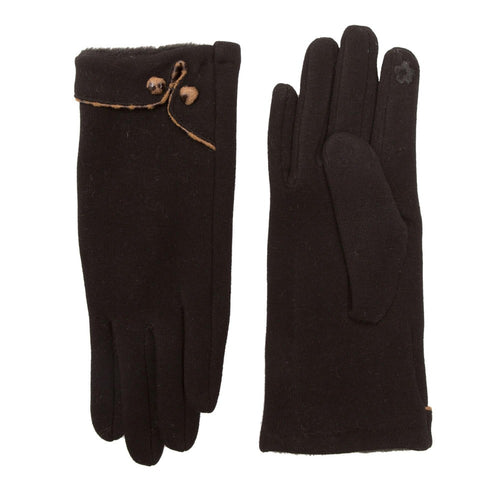 Gloves with Button Detail - Touch Screen