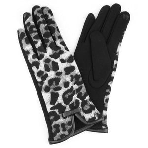 Leopard Print Smart Touch Gloves
