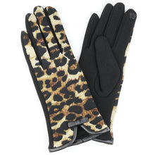 Load image into Gallery viewer, Leopard Print Smart Touch Gloves