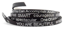 "Load image into Gallery viewer, ""You Are Beautiful"" Wrap Bracelet"