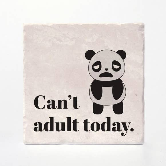 Can't Adult Today Coaster Tiles - Set of 4 (4