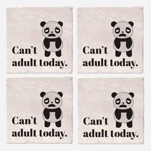 "Can't Adult Today Coaster Tiles - Set of 4 (4""x4"")"