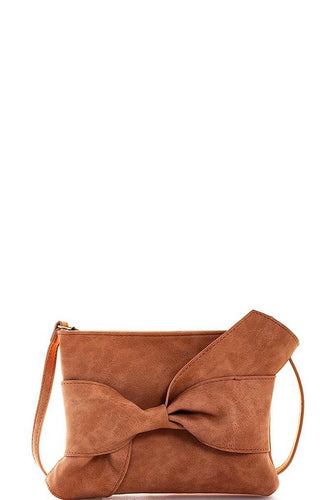 Ribbon Accent Clutch/Crossbody