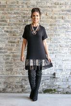 Load image into Gallery viewer, Tunic Dress with Snake Skin & Lace Detail