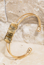 Load image into Gallery viewer, Wire Wrap Stone Cuff Bracelet