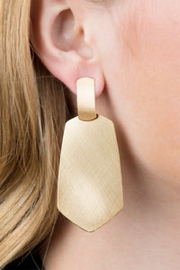 Satin Finish Earring