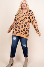 Load image into Gallery viewer, Leopard Drop Shoulder Sweater Taupe