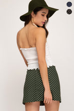 Load image into Gallery viewer, Polka Dot Button Down Skirt