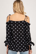 Load image into Gallery viewer, Polka Dot Off The Shoulder Top