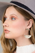 Load image into Gallery viewer, Silver Semi-Circle Earring
