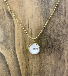 """Sister"" Necklace"