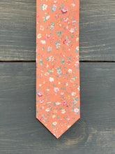Load image into Gallery viewer, Floral Skinny Tie