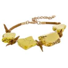 Load image into Gallery viewer, Tortoise Inspired Stone Bracelet