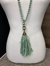 Load image into Gallery viewer, Semi-Precious Jewel Tassle Necklace