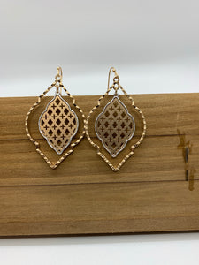 Two Tone Arabesque Earring