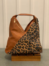 Load image into Gallery viewer, Animal Print Vegan Leather Slouch Bag