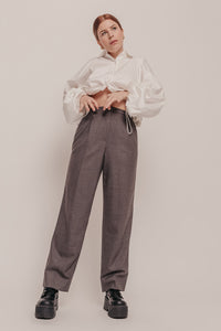 Armani High Waist 100% Wool Trousers Size 8