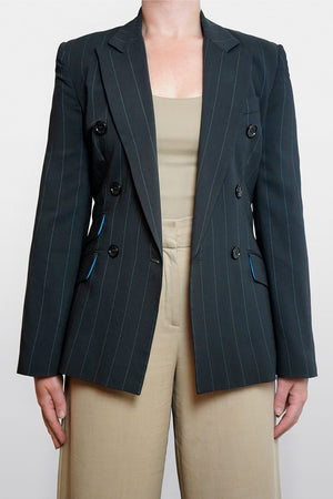 Dolce & Gabbana Pre-Owned Double Breasted Pinstripe Blazer Size 6-8