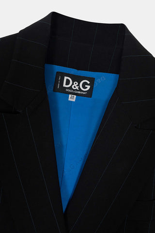 Dolce & Gabbana Pre-Owned Double Breasted Pinstripe Blazer Detail
