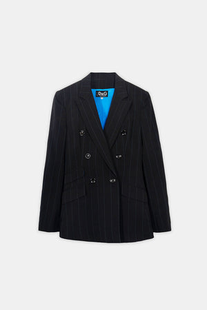 Dolce & Gabbana Pre-Owned Double Breasted Pinstripe Blazer