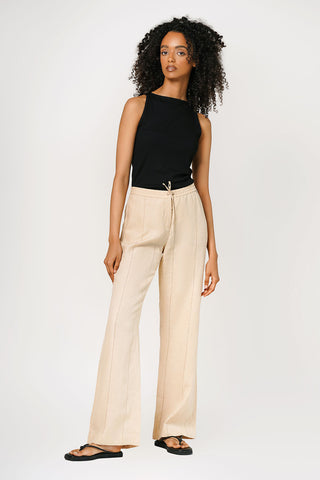 Escada Sport Relaxed Cotton Trousers With Cut Out Detail Size S