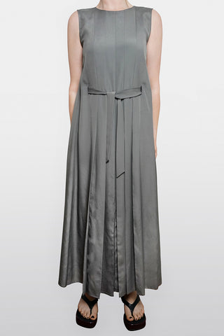 Jaeger Vintage Pleated Maxi Dress Size 10-12