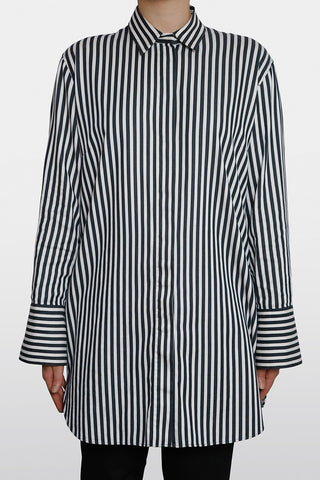 Malene Birger Pre-Owned Oversized Stripe Shirt Size L