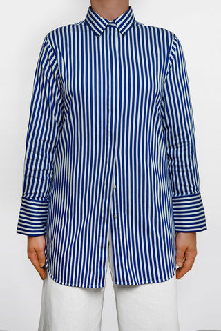 Malene Birger Pre-Owned Stripe Long Shirt Size S