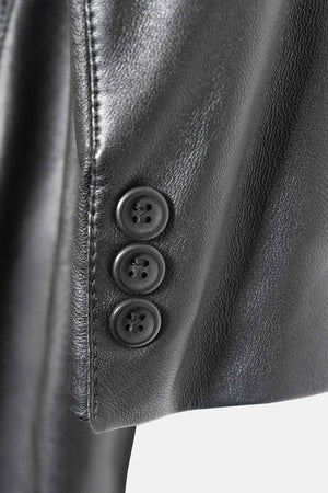 Max Mara Vintage Leather Blazer Buttons