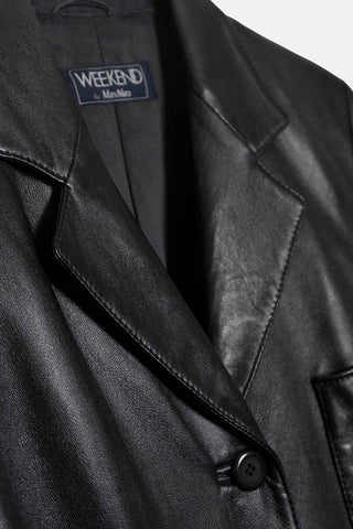 Max Mara Vintage Leather Blazer Detail