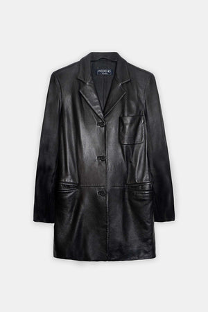 Max Mara Vintage Leather Blazer