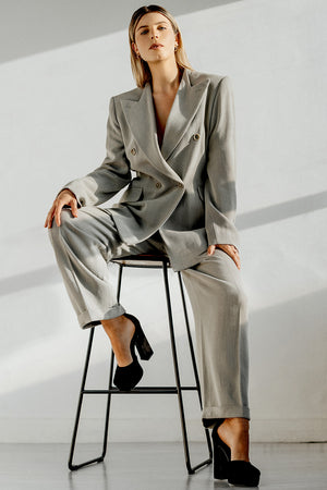 Max Mara Vintage Double Breasted Suit Size 8-10