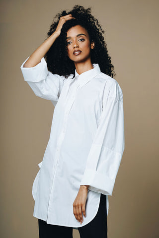 Celine by Pheobe Philo  Oversized Wide Sleeve Shirt Size 12