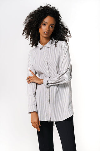 Miu Miu Pinstripe Shirt With Open Back Size S