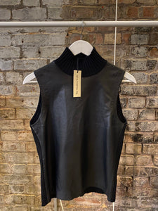 Burberry Leather Knitted Vest Size M