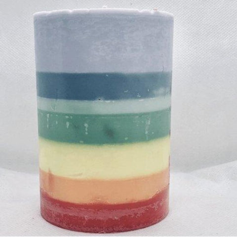 Chakra Pillar Candle - Healing Intentions