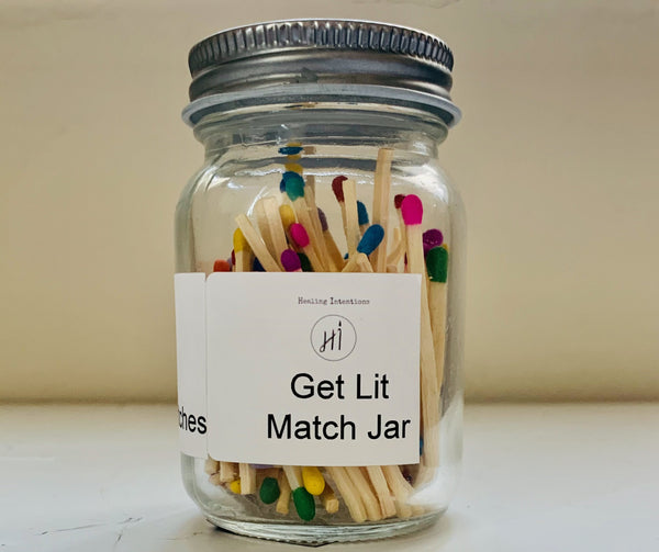 Get Lit Match Jar - Healing Intentions