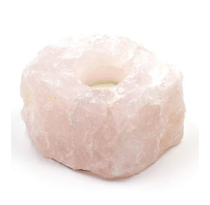 Rose Quartz Candle Holder - Healing Intentions