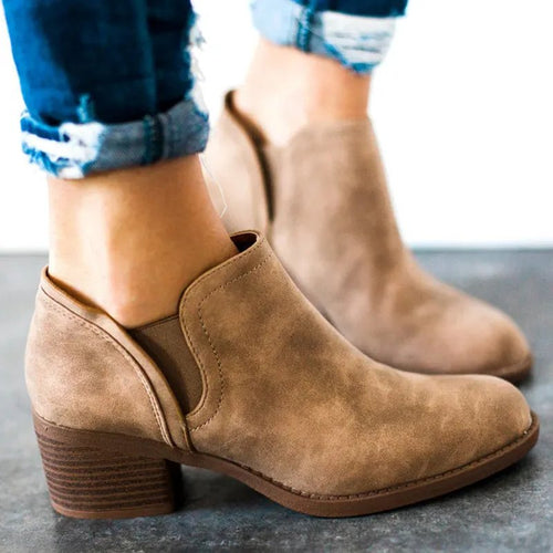 Chunky Heel Spring Pu Chaussures
