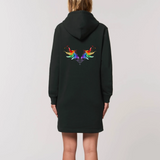Robe à capuche sweat long pour femmes motif Ailes d'Archanges - Ailes D'Amour