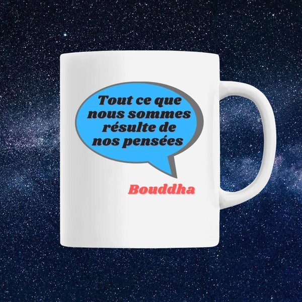 Mug avec citation de Bouddha