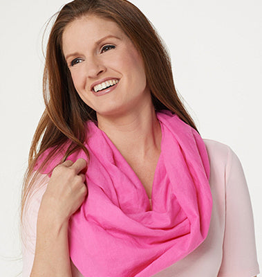 Barbara King Insect Repelling Scarf with Insect Shield - Pink