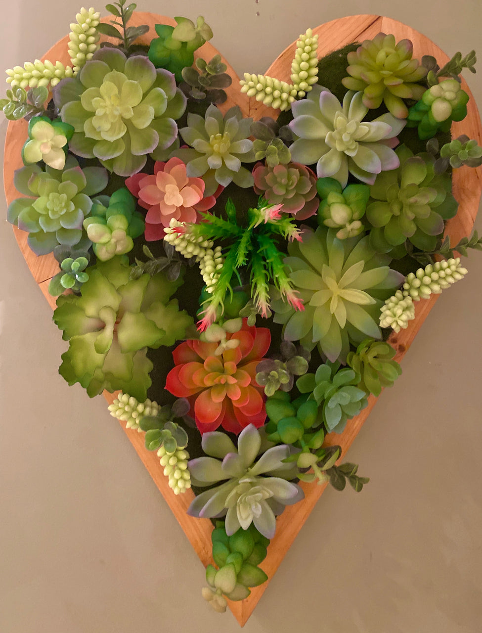 Barbara King Hanging Succulent Wall Art with Lights